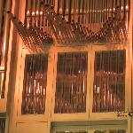 detail of pipe organ
