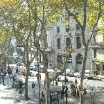 View of La Rambla from our balcony