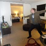 Mike dancing in the living area