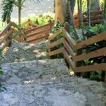 stairs to beach area