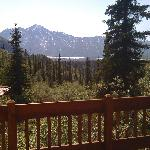 View from Glacier Overlook Cottage's porch