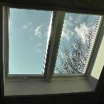 Looking up from the bedroom