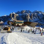 Dantercepies Mountain Lounge and the Sella-Dolomites