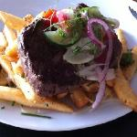 steak with duck fat fries