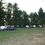 view of the campsites from the play area