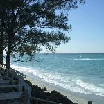 The beach and gulf looking southerly from deck