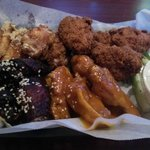 Selection of Four Wings (Garlic, Southern, Hoisin Honey, and Gold)