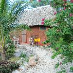 One of the accommodation huts