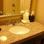 Bathroom 4th Floor Room WIlmington Hampton Inn
