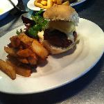 Wild Venison Burger with Melted Mature Cheddar & Hand-cut Chips