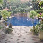 Pool area of hotel