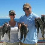 Todd and I caught our limit of black sea bass!