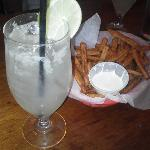 Sweet Potato Fries and a Fresh Squeezed Margarita!!