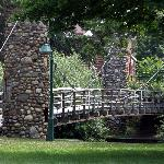 Suspended Foot Bridge over Shiawassee River - Owosso, MI
