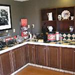 Part of the breakfast buffet area