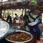 Mama's place - Gambian food stall a little way from the hotel