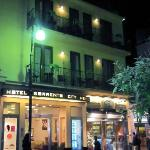 Front of hotel at night. Very safe in Sorrento and around hotel.