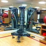 Universal gym in strength-stretching room