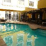 pool was warm