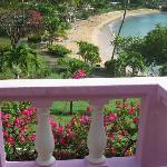 Vista spiaggia dalla reception/ristorante