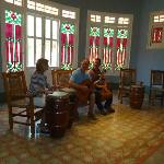 Museum guide took pic of us jamming with private guide