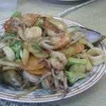 Seafood dish at Jo Wok
