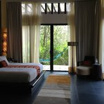 Bedroom in garden villa