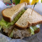 Tuna salad sandwich - on whole wheat!