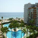 Vista de la playa desde el apartamento 47B