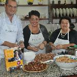 """Mamma Agata, Chiara and Gennaro in the kitchen and their famous cookbook """"Simple and Genuine"""""""