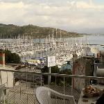 View from breakfast terrace, - Ece Marina just below