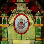 Every window in the home has been replaced with stain glass...amazing!!