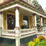 A view of the one side of the wraparound porch