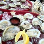 my oysters at the Oasis..mmmm mmmm good.