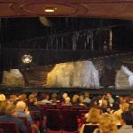 inside the theatre, before the performance began