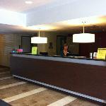 Front desk with friendly Wendy, Super 8 Hotel, Kapuskasing, Ontario