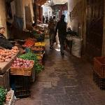 Produce market around the corner from Riad Laayoun