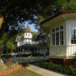 """Looking past """"our"""" room, we have a view of the home of the founder of Palmetto."""