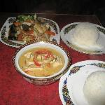 Thai curry dishes