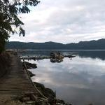 the dock at Breezy Bay beach