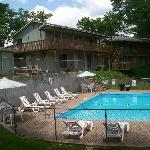 All rooms are just steps away from the pool, hot tub, and docks.