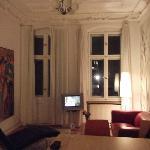 sala de estar com sala de jantar