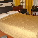 double room at the Hotel Victory Inn.  Comfortable bed and pillows!