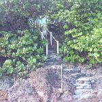 Steps down to the beach