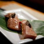 Seared Toro with black truffle