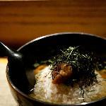 Japanese plum rice soup