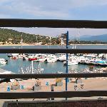 le petit port de Porto Pollo vu de puis la chambre