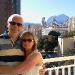 Photo sur balcon de la chambre