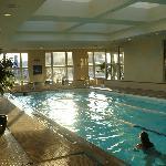 Teriffic pool, a Boston December weekend, relaxing