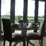 Breakfast with views across the lawns